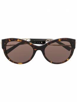 Versace Eyewear солнцезащитные очки Safety Pin в круглой оправе VE4389