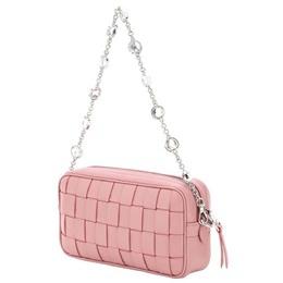 Miu Miu Pink Interwoven Leather Bag 351270
