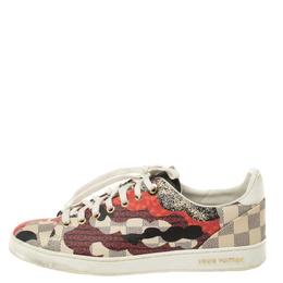 Louis Vuitton Multicolor Damier Azur Canvas Overcloud Lace Up Sneakers 39.5 353897