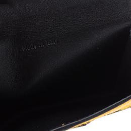 Celine Multicolor Leather and Calfhair Diamond Card Case 337083