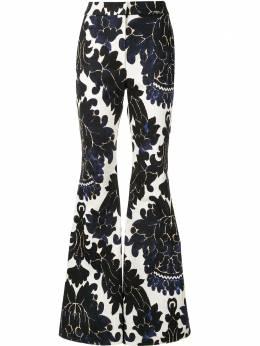 Adam Lippes расклешенные брюки с цветочным принтом F20514PT