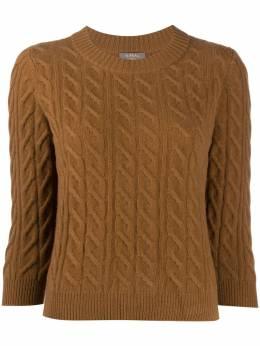 N.peal свитер фактурной вязки с круглым вырезом NPW002085