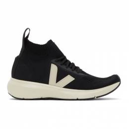 Rick Owens Black and Off-White Veja Edition Sock Runner Sneakers VM20F3801 KVE