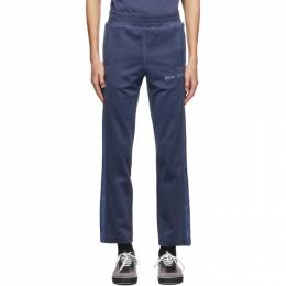 Palm Angels Navy Garment-Dyed Track Pants PMCA084F20FAB0034646