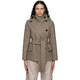Stella McCartney Taupe Wool Amelia Coat 602276SPB18