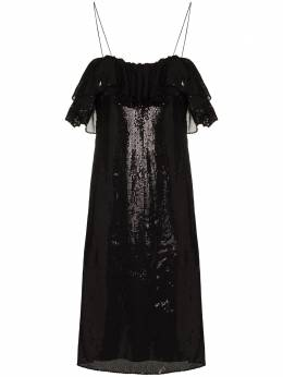 Halpern платье миди с пайетками S21D11