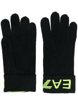 Ea7 перчатки вязки интарсия с логотипом 2758959A301