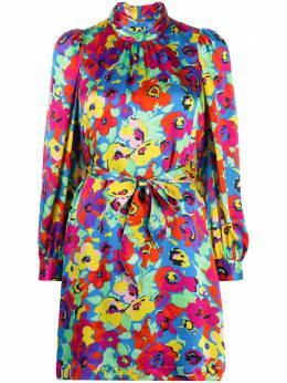 Essentiel Antwerp платье с высоким воротником и цветочным принтом WENGLIND