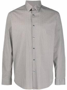 Theory рубашка Irving с геометричным принтом KO974511