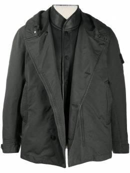 Stone Island многослойная куртка со вставками 731542049