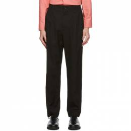 Issey Miyake Men Black Gabardine Trousers ME08FF045