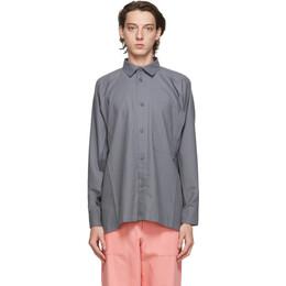 Issey Miyake Men Grey Flat Shirt ME08FJ062
