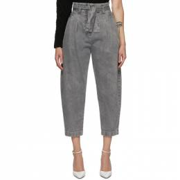 Wandering Grey High-Waist Cropped Jeans WDGW20641