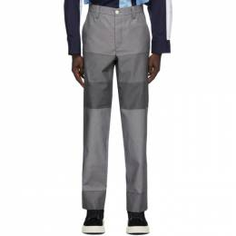 Sunnei Grey Paneled Straight Trousers MT01BCTR035R04