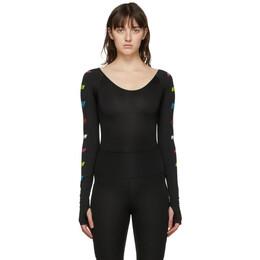 MSGM Black Logo Sport Bodysuit 2945MDQ01 207700