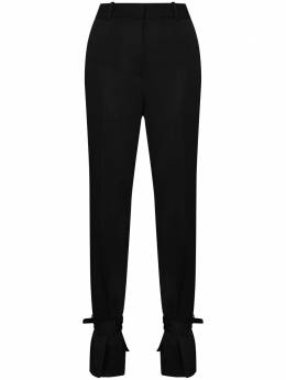 J.W. Anderson брюки кроя слим с завязками на манжетах TR0080PG0011999