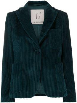 L'Autre Chose вельветовый приталенный пиджак O1570200020