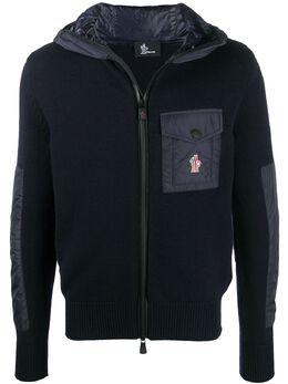 Moncler Grenoble куртка с капюшоном и контрастной вставкой F20979B60200A9462