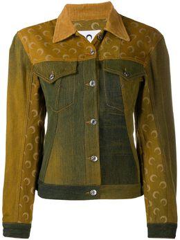 Marine Serre джинсовая куртка с принтом J036FW20WU4