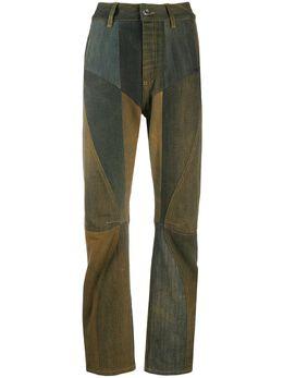 Marine Serre брюки в технике пэчворк с завышенной талией P036FW20WU4