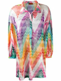 Missoni Mare платье-рубашка с принтом зигзаг MMQ00199BR00C7