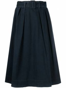 Tommy Hilfiger джинсовая юбка с завышенной талией и поясом WW0WW293291BL
