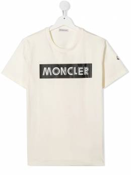 Moncler Kids футболка с логотипом 8C7272083092
