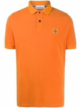 Stone Island рубашка поло с короткими рукавами и нашивкой-логотипом 731522S67