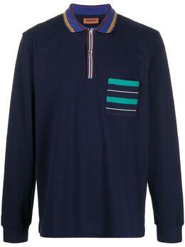 Missoni рубашка поло с длинными рукавами и отделкой в полоску MUL00081BJ0019