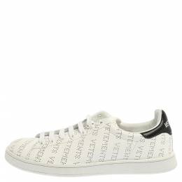 Vetements White Perforated Leather Low Top Sneakers Size 41 353986