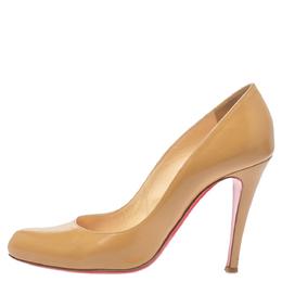 Christian Louboutin Beige Leather Feticha Pumps Size 36.5 354657