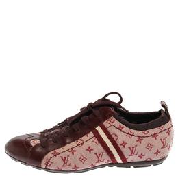 Louis Vuitton Cherry Red Monogram Mini Lin Lace Sneakers Size 38 353231