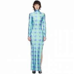 Supriya Lele Blue and Green Polo Dress CAPS20SL22