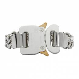 1017 Alyx 9Sm Silver and Gold Cubix Chain Bracelet AAUJW0006OT03.F20