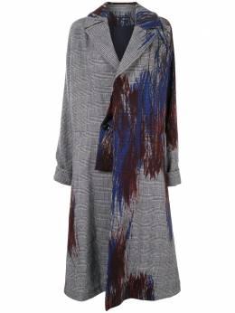Y's пальто оверсайз с абстрактным принтом YRC09113