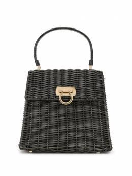 Salvatore Ferragamo Pre-Owned плетеная сумка с верхней ручкой и декором Gancini DV213403