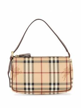 Burberry Pre-Owned сумка-тоут в клетку Haymarket Check T051