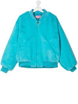 Chiara Ferragni Kids куртка с искусственным мехом и аппликацией CFKJ007
