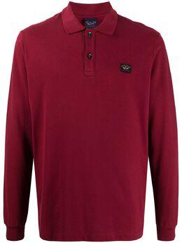 Paul & Shark рубашка поло с длинными рукавами и нашивкой-логотипом C0P1001