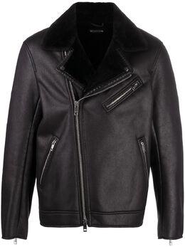 Armani Exchange куртка из искусственной кожи на молнии 6HZB43ZNMFZ