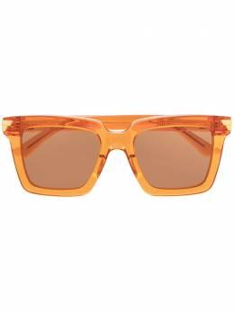 Bottega Veneta Eyewear солнцезащитные очки в квадратной оправе BV1005S590247V2330