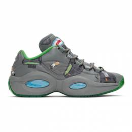 Billionaire Boys Club Grey Reebok Edition Beepers and Butts Question Low Sneakers FZ4342