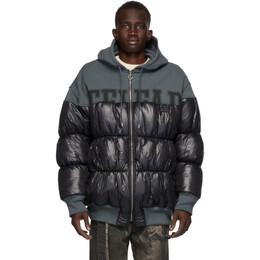 Telfar Black Puff Hoodie Jacket FW20-PF-03