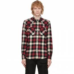 Belstaff Red and White Check Western Shirt 71120268C61N0512