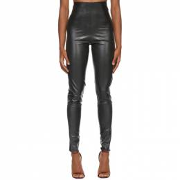 Saint Laurent Black Latex Leggings 632981 Y7B07*