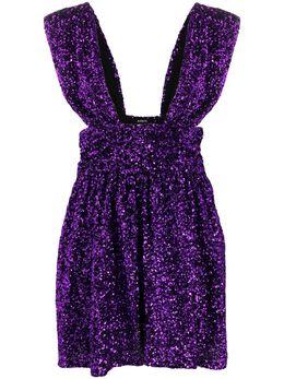 Amen платье мини Amen с глубоким вырезом и пайетками AMW20417