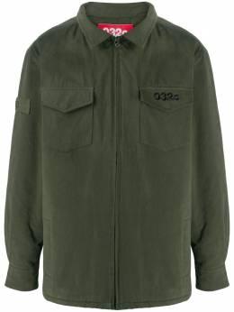 032C рубашка на молнии с логотипом FW012SB003