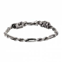 Emanuele Bicocchi Silver Rope and Chain Link Bracelet CRB1