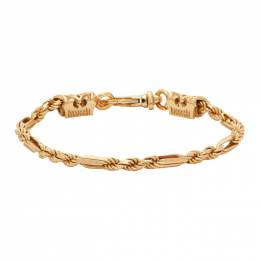 Emanuele Bicocchi Gold Rope and Chain Link Bracelet CRB1G