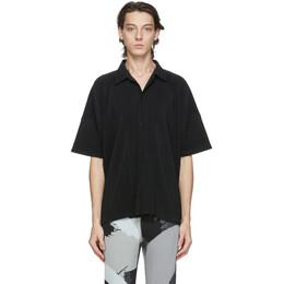 Homme Plisse Issey Miyake Black MC July Short Sleeve Shirt HP08JJ106